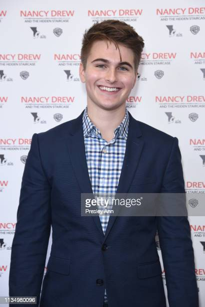 Evan Castelloe attends the red carpet premiere of 'Nancy Drew and the Hidden Staircase' at AMC Century City 15 on March 10 2019 in Century City...