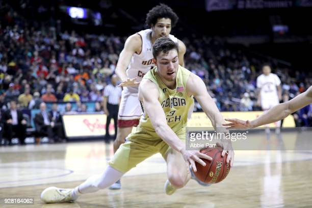Evan Cole of the Georgia Tech Yellow Jackets dives for the ball in the second half against the Boston College Eagles during the first round of the...