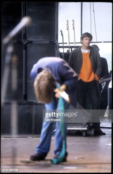 Evan Dando of the Lemonheads watching Pavement Stephen Malkmus performing on stage Pukkelpop Festival Hasselt Belgium 27th August 1994