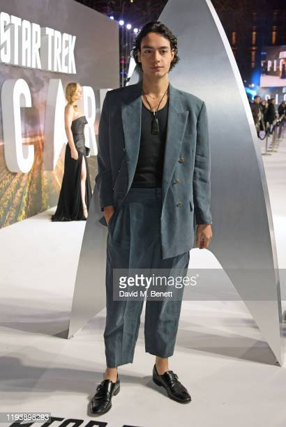Evan Evagora attends the European Premiere of Amazon Original Star Trek Picard at Odeon Luxe Leicester Square on January 15 2020 in London England