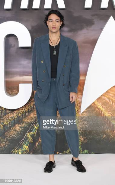 Evan Evagora attends the Star Trek Picard UK Premiere at Odeon Luxe Leicester Square on January 15 2020 in London England