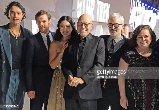 Evan Evagora Harry Treadaway Isa Briones Sir Patrick Stewart Alex Kurtzman and Kirsten Beyer attend the European Premiere of Amazon Original Star...