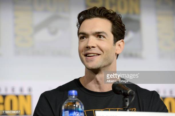 Evan Evagora speaks at the Enter The Star Trek Universe Panel during 2019 ComicCon International at San Diego Convention Center on July 20 2019 in...