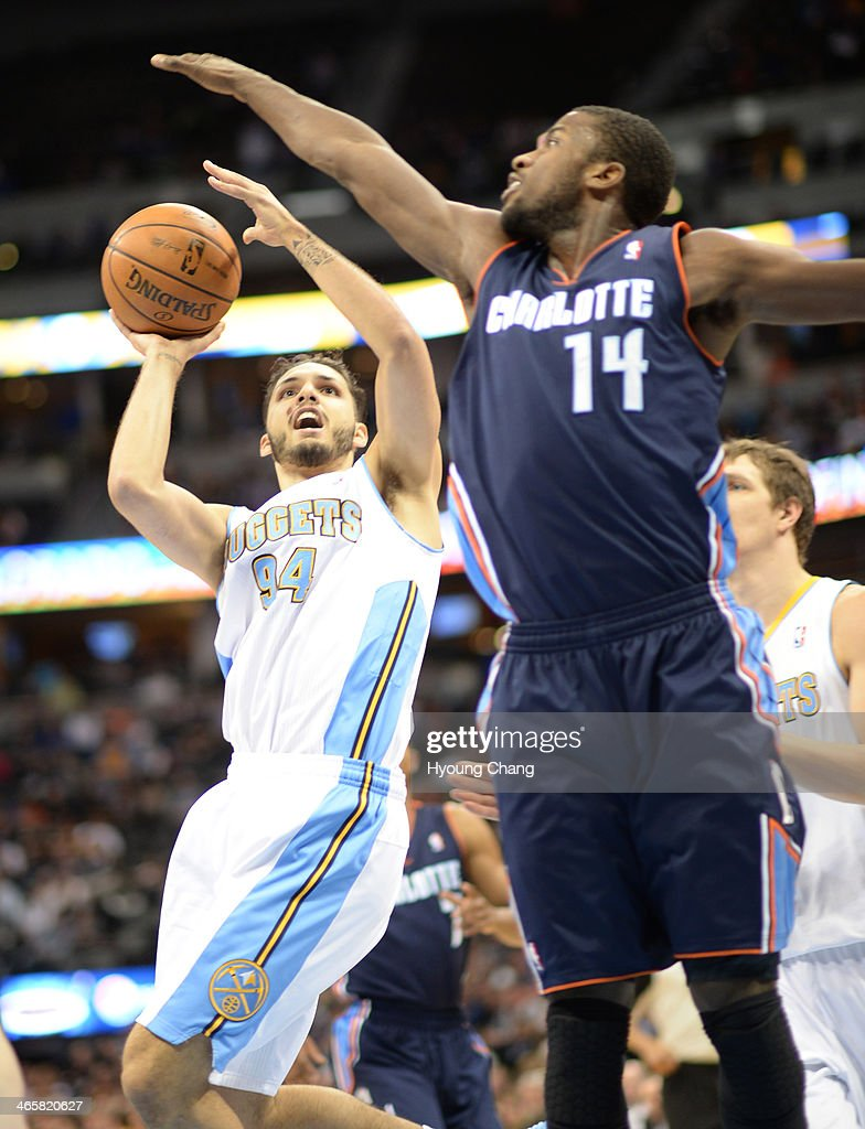 Denver Nuggets Charlotte Bobcats : News Photo