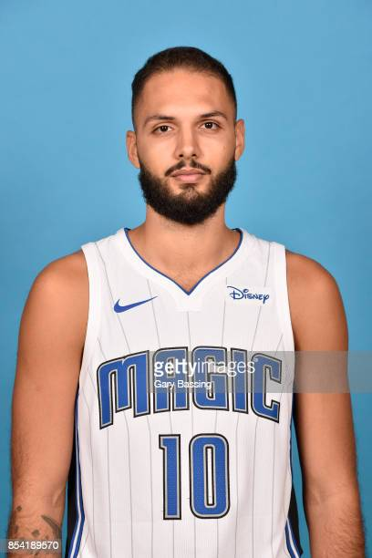 Evan Fournier of the Orlando Magic poses for a head shot during media day on September 25 2017 at Amway Center in Orlando Florida NOTE TO USER User...