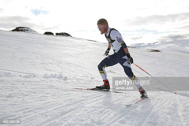 Evan Girard of Canada competes in the Freestyle Individual Mens 10km FIS CrossCountry Skiing ANC Individual Start Freestyle during the Winter Games...