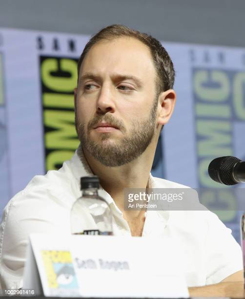 Evan Goldberg attends the 'Preacher' autograph signing and panel with AMC during ComicCon International 2018 at San Diego Convention Center on July...