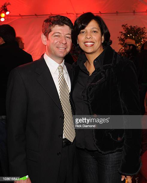 Evan Greene and Angelia BibbsSanders attend the PE Wing 'Rock My Soul' Event at The Villiage Studios on February 5 2009 in Los Angeles California