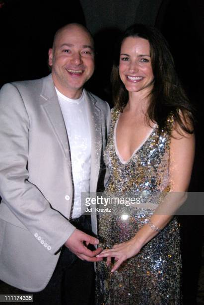 Evan Handler and Kristin Davis during HBO Films Pre Golden Globes Party Inside Coverage at Chateau Marmont in Los Angeles California United States