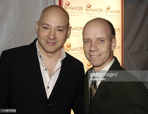 Evan Handler and Scott Hamilton during Sweet November Fertile Hope Celebrity Fundraiser at Bryant Park Grill in New York City New York United States