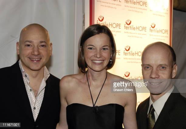Evan Handler Lindsay Nohr and Scott Hamilton during Sweet November Fertile Hope Celebrity Fundraiser at Bryant Park Grill in New York City New York...