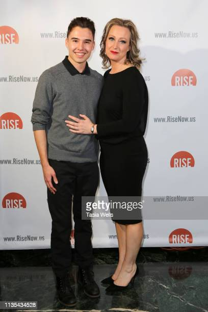 Evan Henzi and Lorien Haynes attend the Rise Fundraiser 'Everything I Ever Wanted To Tell My Daughter About Men' Play Reading at Wallis Annenberg...