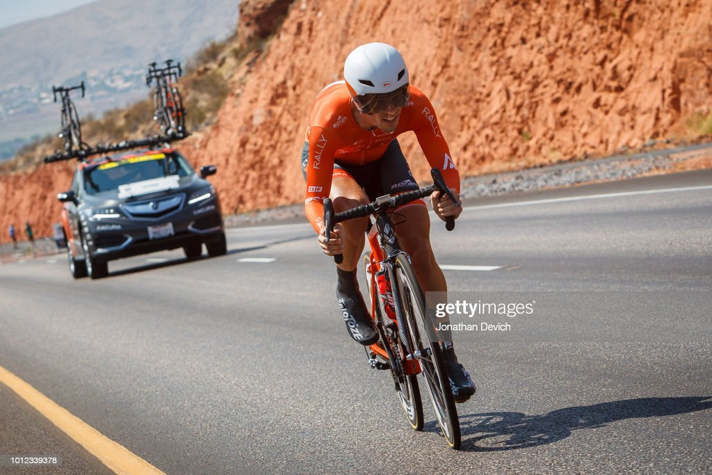 Evan Huffman of the United States and the Rally Cycling Team on the climb during the prologue on August 6, 2018 in St. George, Utah.