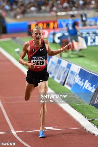 Evan Jager men's 3000m steeplechase during the IAAF Diamond League Meeting Herculis on July 21 2017 in Monaco Monaco