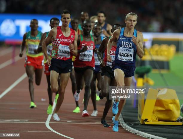 Evan Jager of United States competes in the Men's 3000m Steeplechase during day five of the 16th IAAF World Athletics Championships London 2017 at...