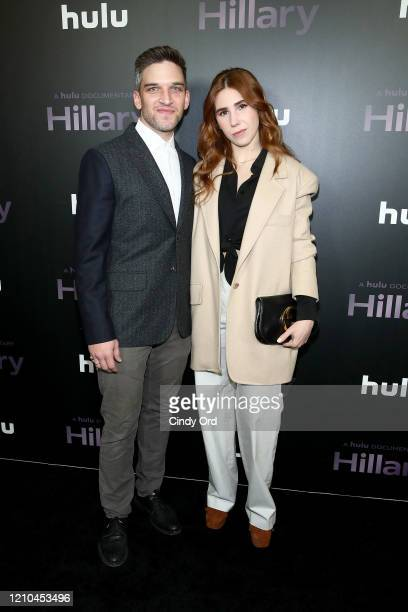 "Evan Jonigkeit and Zosia Mamet attend ""Hillary"" New York Premiere at Directors Guild of America Theater on March 04, 2020 in New York City."