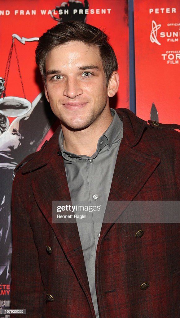 Evan Jonigkeit attends the 'West Of Memphis' premiere at Florence Gould Hall on December 7, 2012 in New York City.
