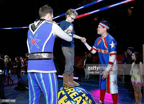 Evan Joseph Asher attends Ringling Bros and Barnum Bailey presents Legends at Barclays Center of Brooklyn on February 20 2014 in Brooklyn NY