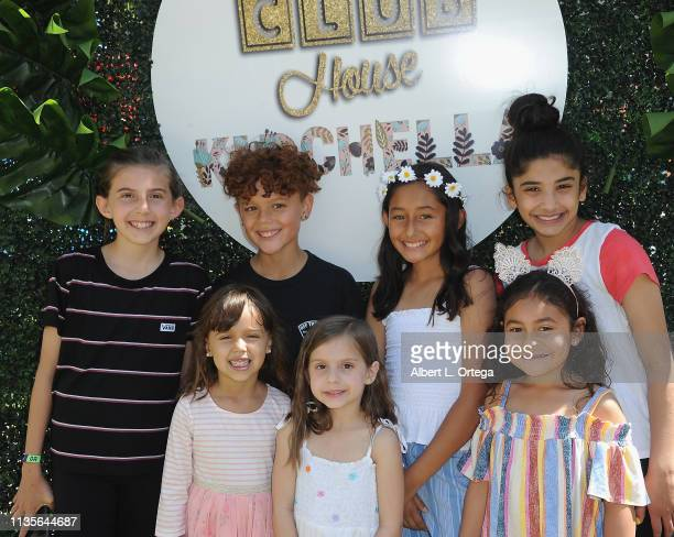 Evan Kozin and friends arrives for Clubhouse Kidchella held at Pershing Square on April 6 2019 in Los Angeles California