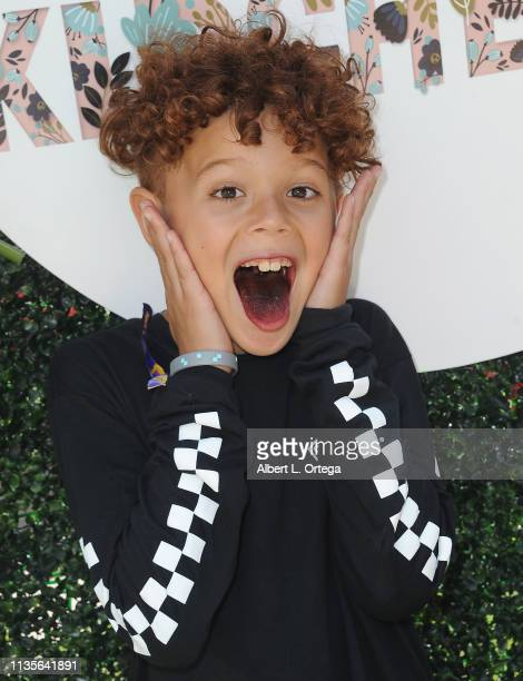 Evan Kozin arrives for Clubhouse Kidchella held at Pershing Square on April 6 2019 in Los Angeles California