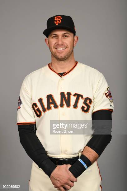 Evan Longoria of the San Francisco Giants poses during Photo Day on Tuesday February 20 2018 at Scottsdale Stadium in Scottsdale Arizona