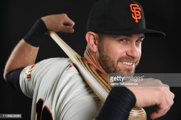 Evan Longoria of the San Francisco Giants poses during the Giants Photo Day on February 21 2019 in Scottsdale Arizona