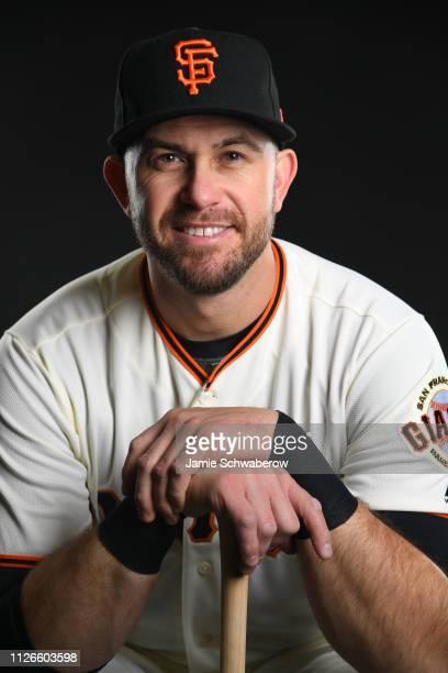 Evan Longoria of the San Francisco Giants poses during the Giants Photo Day on February 21 2019 in Scottsdale Arizona