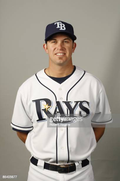 Evan Longoria of the Tampa Bay Rays poses during Photo Day on Friday, February 20, 2009 at Charlotte County Sports Park in Port Charlotte, Florida.