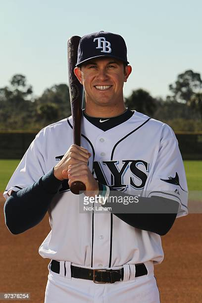 Evan Longoria of the Tampa Bay Rays poses for a photo during Spring Training Media Photo Day at Charlotte County Sports Park on February 26 2010 in...