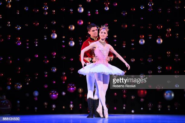 Evan Loudon and Bethany KingsleyGarner of Scottish Ballet perform on stage during the 'The Nutcracker' photocall at Festival Theatre on December 8...