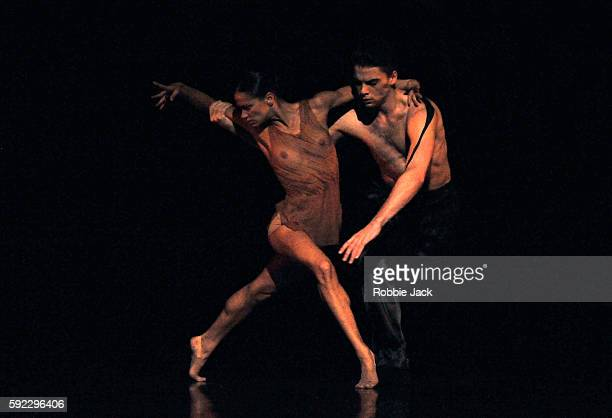 Evan Loudon and Sophie Martin in Scottish Ballet's production of Crystal Pite's Emergence at the Festival Theatre as part of the Edinburgh...