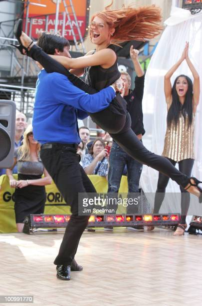 Evan Lysacek and Anna Trebunskaya visit ABC's 'Good Morning America' at ABC Studios on May 26 2010 in New York City
