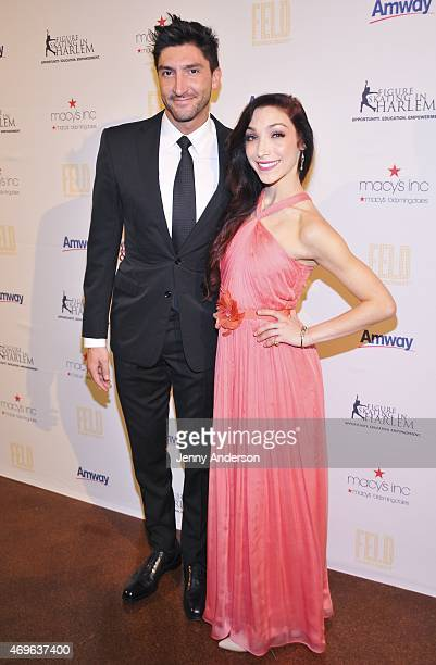 Evan Lysacek and Meryl Davis attend the 10th Annual Skating With The Stars Benefit Gala at 583 Park Avenue on April 13 2015 in New York City