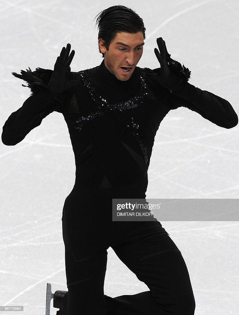 US' Evan Lysacek competes in the men's 2 : News Photo