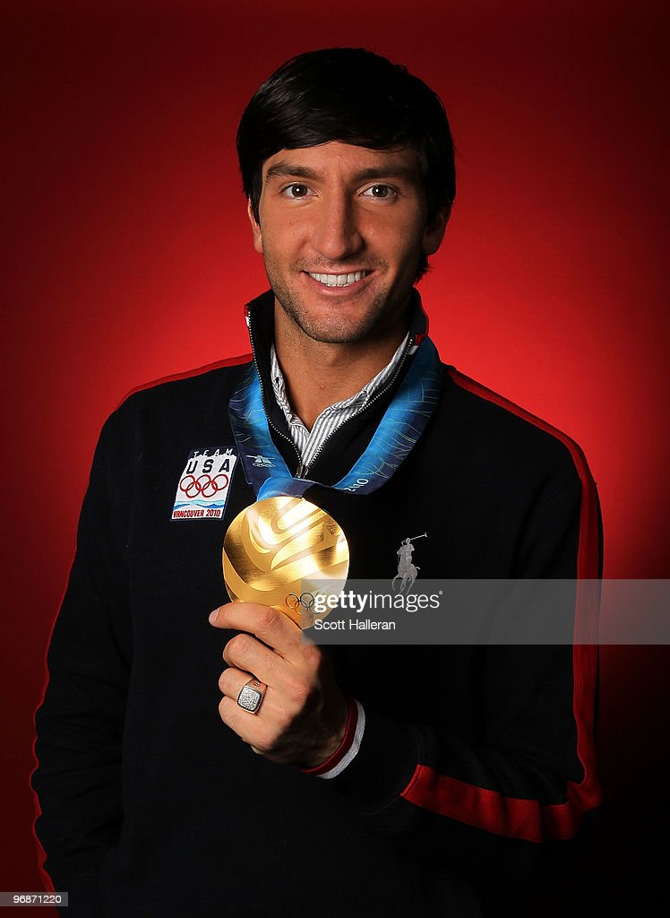 Evan Lysacek, gold medal winning figure skater of the United States, poses in the NBC Today Show Studio at Grouse Mountain on February 19, 2010 in North Vancouver, Canada.