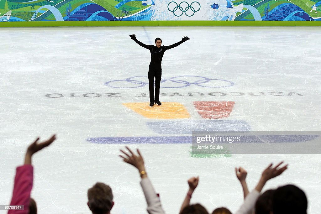 Evan Lysacek of the United States competes in the men's figure skating short program on day 5 of the Vancouver 2010 Winter Olympics at the Pacific Coliseum on February 16, 2010 in Vancouver, Canada.