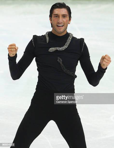 Evan Lysacek of the United States competes in the men's figure skating free skating on day 7 of the Vancouver 2010 Winter Olympics at the Pacific...