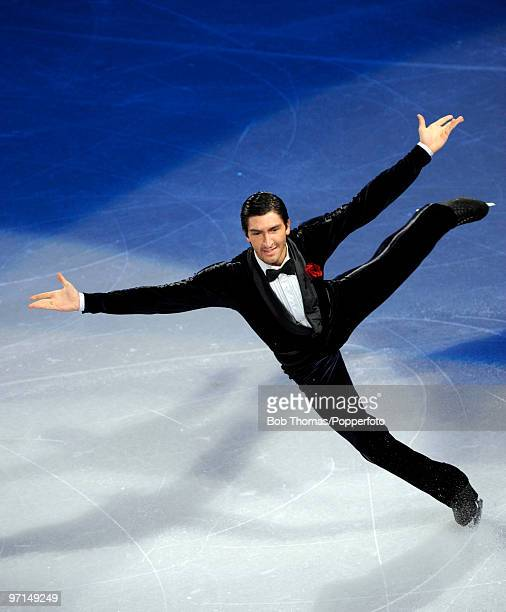 Evan Lysacek of the USA perform at the Exhibition Gala following the Olympic figure skating competition at Pacific Coliseum on February 27 2010 in...