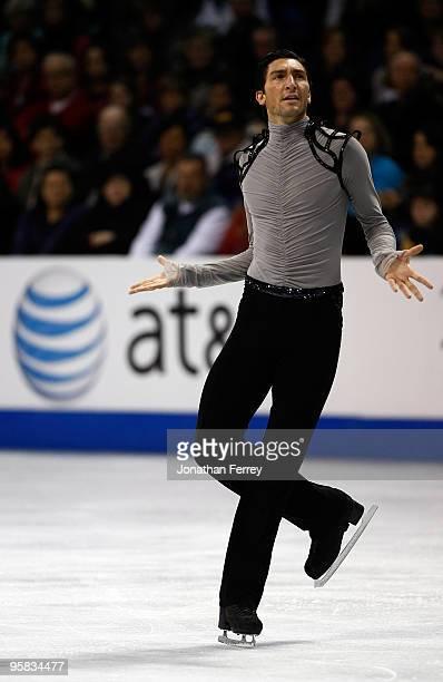 Evan Lysacek skates the free program during the US Figure Skating Championships at Spokane Arena on January 17, 2010 in Spokane, Washington.