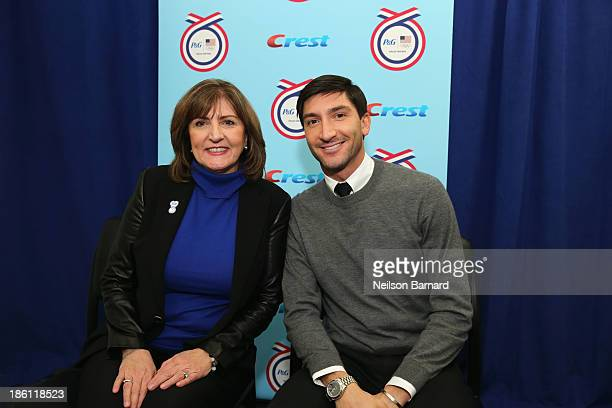 Evan Lysacek US Olympian and his mom Tanya Lysacek join PG to kickoff The 2014 Sochi Olympic Winter Games 'Thank You Mom' campaign with a screening...