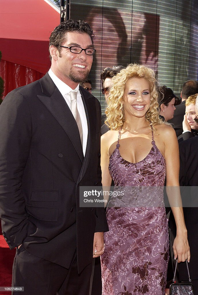 Evan Marriott and guest during 55th Annual Primetime Emmy Awards - Arrivals at The Shrine Auditorium in Los Angeles, California, United States.