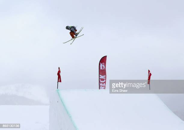 Evan McEachran of Canada competes in the Men's Ski Slopestyle qualifier during Day 2 of the Dew Tour on December 14 2017 in Breckenridge Colorado