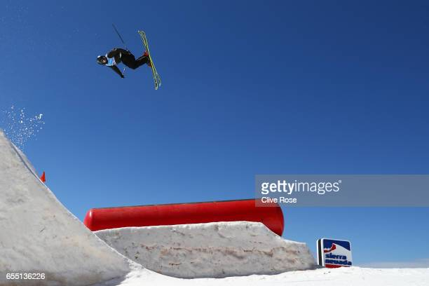 Evan McEachran of Canada competes in the Men's Slopestyle final during day twelve of the FIS Freestyle Ski Snowboard World Championships 2017 on...