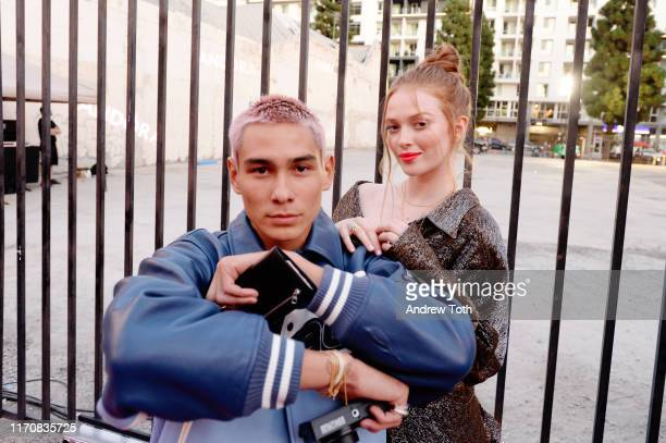 Evan Mock and Larsen Thompson attend Pandora Street Of Loves on August 28 2019 in Los Angeles California