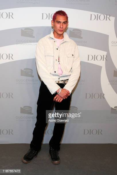 Evan Mock attends 2019 Guggenheim International Gala PreParty at Solomon R Guggenheim Museum on November 13 2019 in New York City