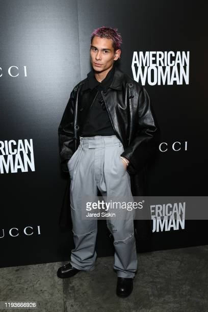 """Evan Mock attends Anna Wintour With Gucci And The Cinema Society Host A Special Screening Of """"American Woman"""" at Metrograph on December 12, 2019 in..."""