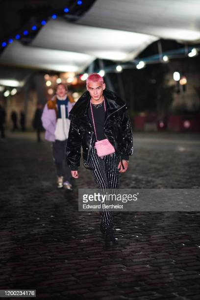 Evan Mock attends the Balmain Menswear Fall/Winter 20202021 show as part of Paris Fashion Week on January 17 2020 in Paris France