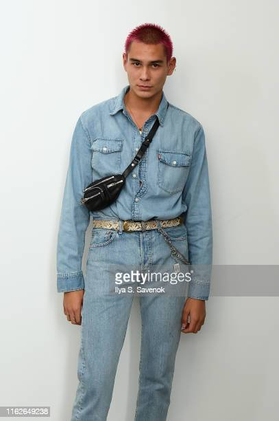 Evan Mock attends the WARDROBENYC launch of Release 04 DENIM Levi's® Collaboration on July 17 2019 in New York City
