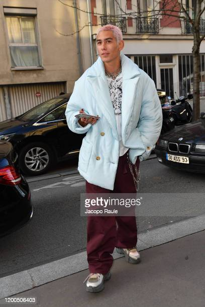 Evan Mockattends the Lanvin Menswear Fall/Winter 20202021 show as part of Paris Fashion Week on January 19 2020 in Paris France
