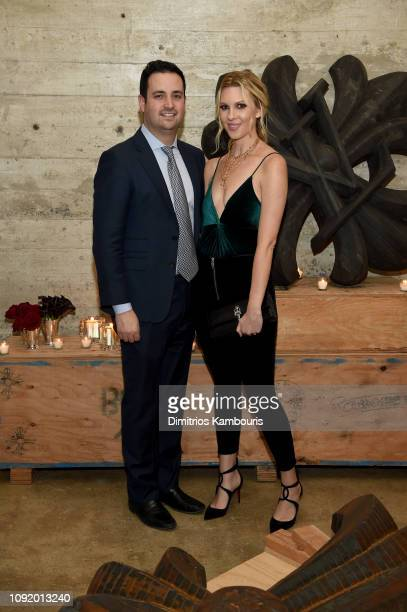 Evan Morgan and Mary Anne Huntsman attend the Louis Vuitton Dinner Mens SS19 Temporary Residency on January 09, 2019 in New York City.